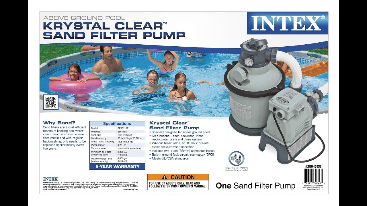 Intex Pool Pump Youtube Intex Krystal Clear Sand Filter Pump For Above Ground Pools Review