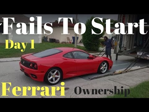 Ferrari Fails to start on delivery Ferrari 360 ownership  day 1
