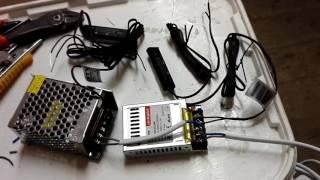 Подключение светодиодной ленты 12V и 24V с включением через датчик движения