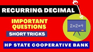 Recurring Decimal Concept | Simplification Short Trick | Question | Math Short Trick | fraction |