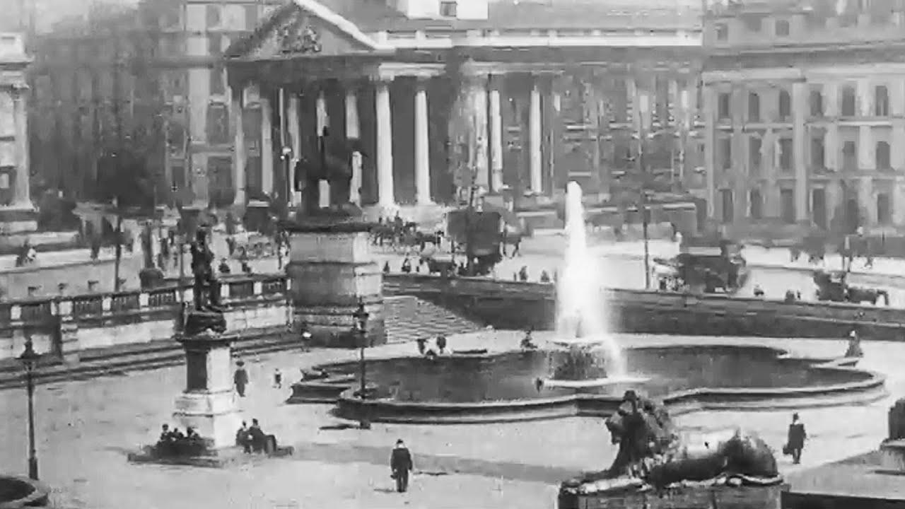 london street scenes trafalgar square 1910 britain on film