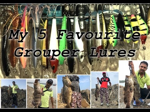 My 5 Favourite Grouper Lures By Tackle Tips