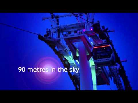 Emirates Air Line night flights