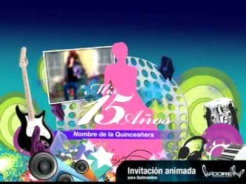 INVITACION ANIMADA 15 AÑOS - YouTube
