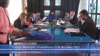Concejo Municipal extraordinario 23 de diciembre 2019