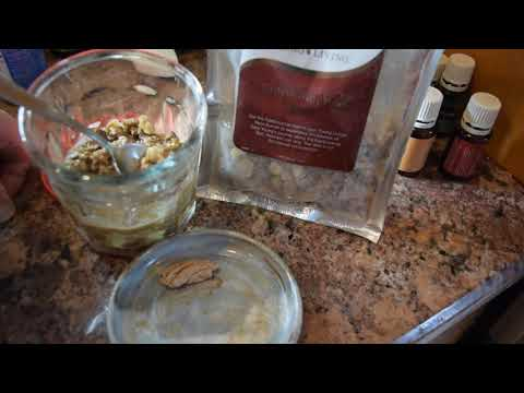 Making Frankincense resin tea and gum