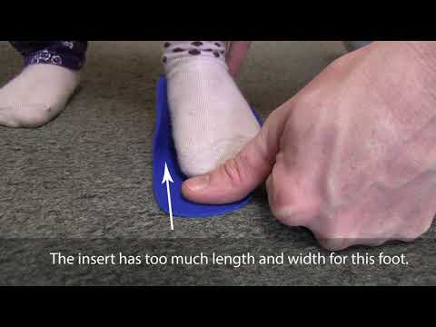 How to | Determine if a Fast Fit shoe insert is too big