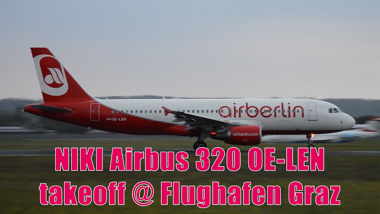 Len Düsseldorf niki a320 takeoff flughafen graz oe len