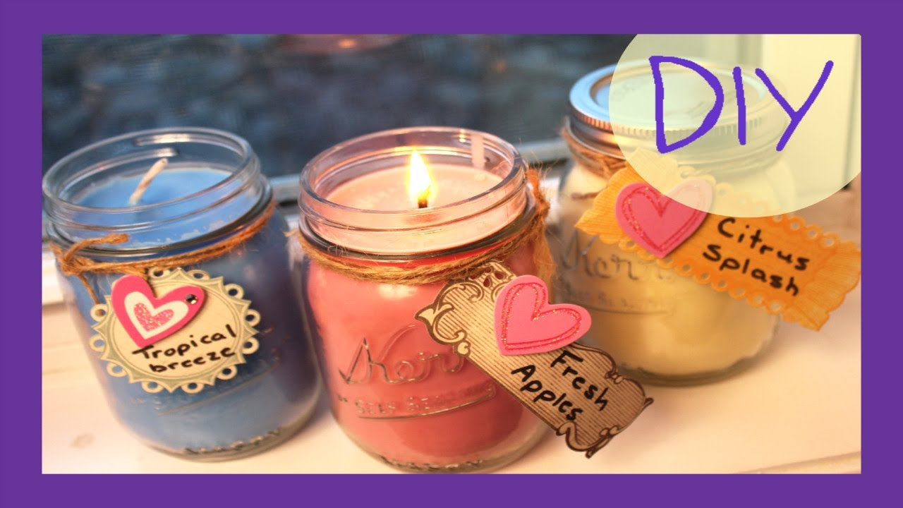 DIY Soy Candles - YouTube
