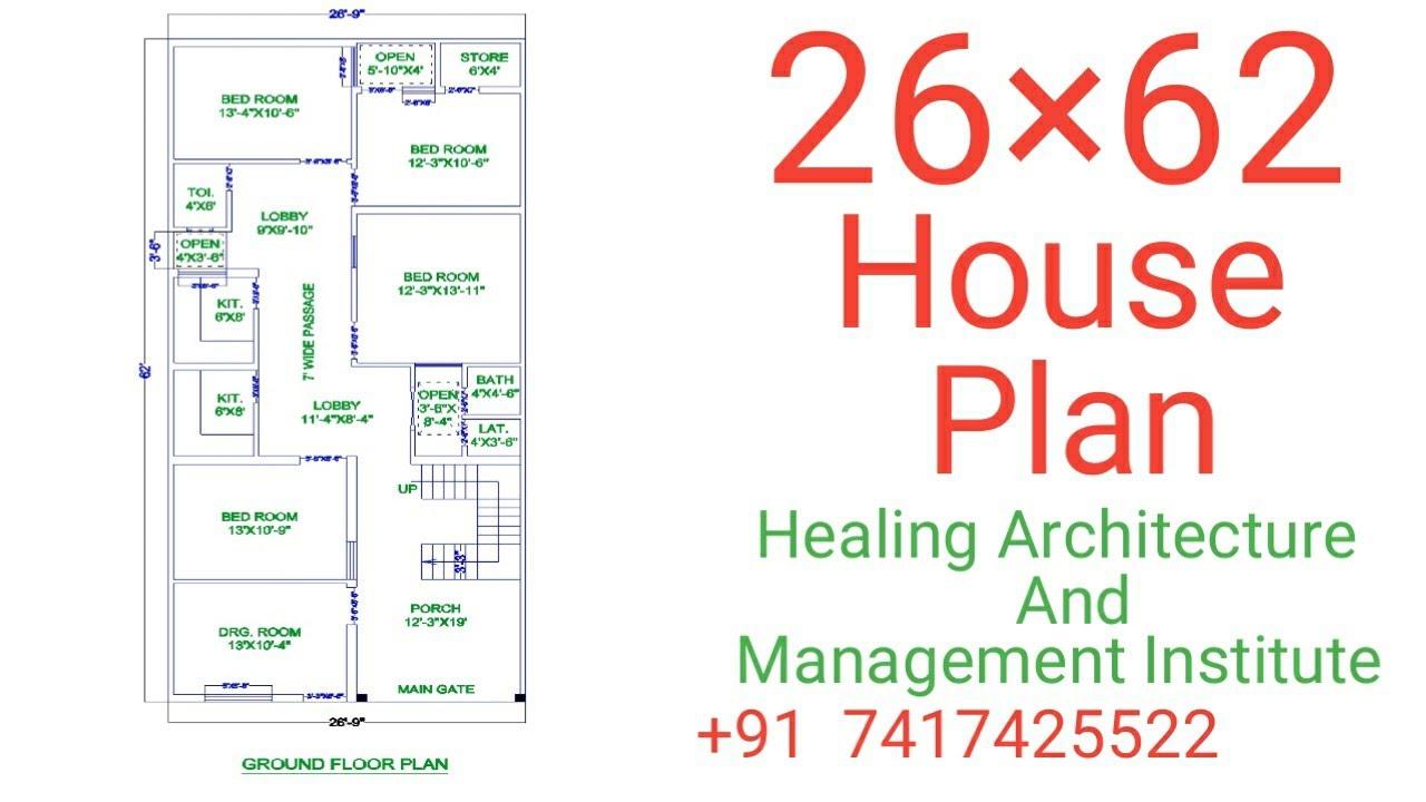 Download 26 x 62 House Floor Plan  | HAMI Institute || Floor Plan
