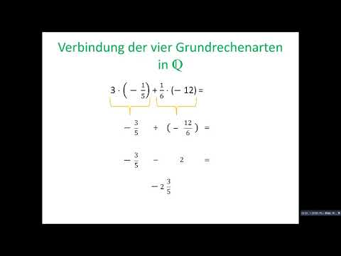 Verbindung der vier Grundrechenarten in Q