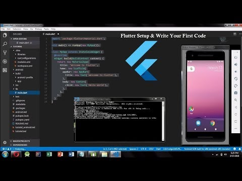 Flutter Setup On Windows || Installing Flutter With Git & Android SDK & VS Code