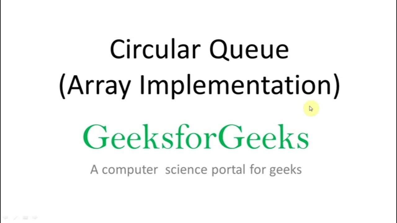 Circular Queue | Set 1 (Introduction and Array