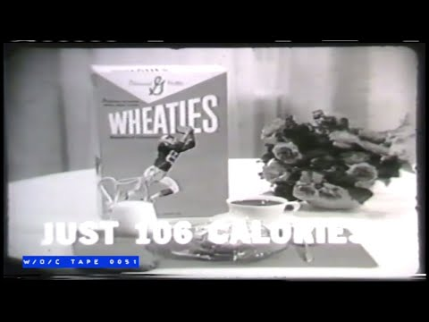 General Mills Wheaties Cereal Commercial Compilation   1960s