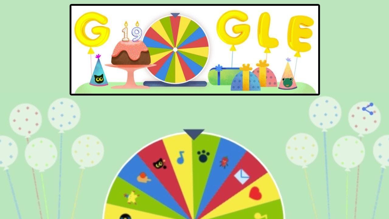 Google Birthday Surprise Spinner Snake Game Gameplay