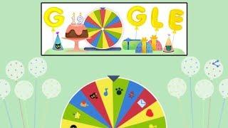 Google Birthday Surprise Spinner Snake Game, Gameplay, Google Doodle