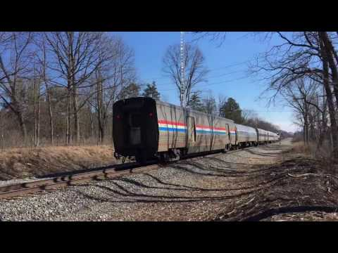Amtrak Wolverine with Viewliner 2 Baggage Car