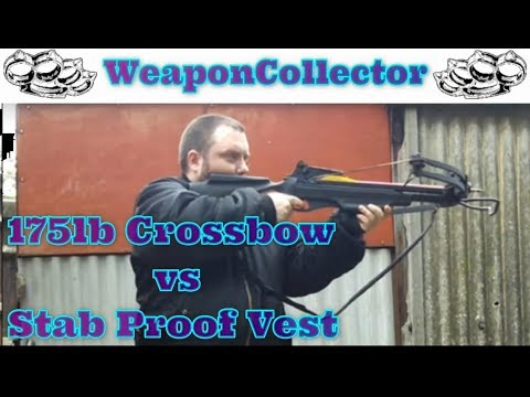 175lb Crossbow vs Stab Proof Vest