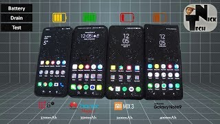 Honor Magic 2 vs OnePlus 6T vs Mi MIX 3 vs Note 9 Battery Life Drain Test