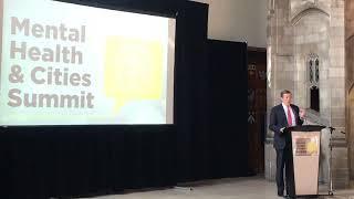 John Tory speak at the Mental Health & Cities Summit
