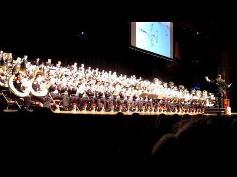 Ohio State University Marching Band Concert 11 13 2011.  America the Beautiful.  MVI_1788.MOV