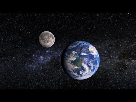 Earth moon and sun animated school project