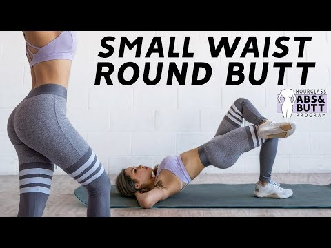 Small Waist (ABS) \u0026 Round Butt Workout 🍑26 Days Hourglass Program ⏳