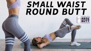 Small Waist (ABS) & Round Butt Workout 🍑26 Days Hourglass Program ⏳