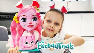 Pretend Play with Girl Makeup Toys Lera Playing with Doll Enchantimals for Kids