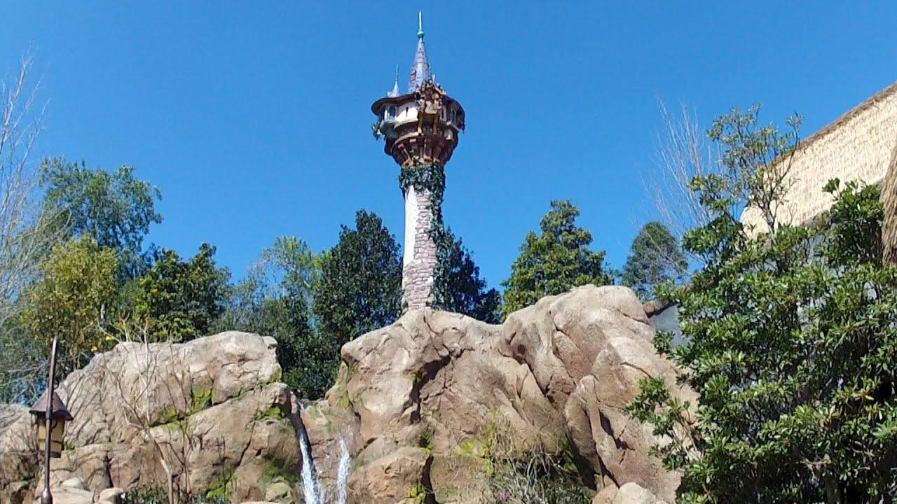 Tangled Tower At Magic Kingdom Rapunzel Flynn Rider Restrooms Fantasyland Disney World Youtube