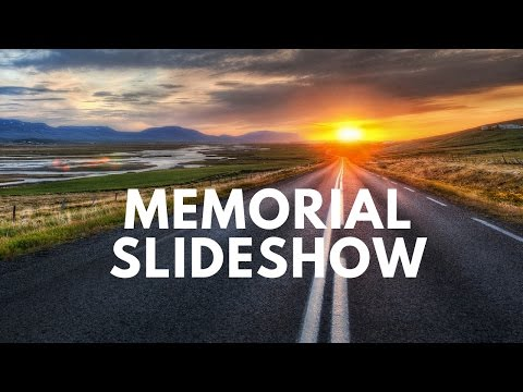 Funeral Memorial Photo montage Slideshow Presentation Sutherland Shire Sydney Australia