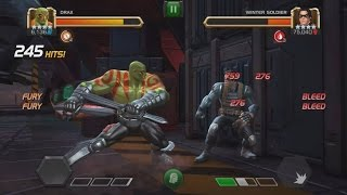 Rank 5 Drax VS Realm of Legends Winter Soldier - Marvel Contest Of Champions