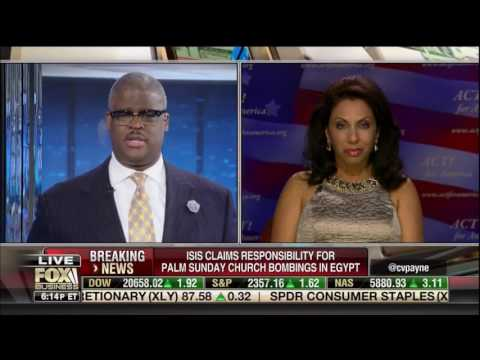 Brigitte Gabriel with Charles Payne Discussing Palm Sunday Church Bombings in Egypt