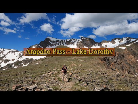 Arapaho Pass and Lake Dorothy