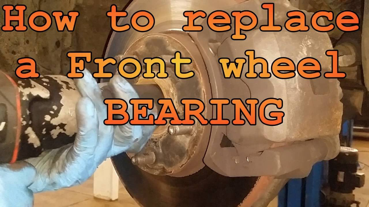 medium resolution of how to replace a front wheel bearing on toyota rav4
