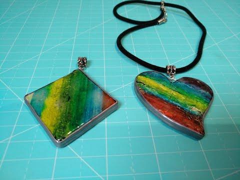 Arcilla Polimérica ( Polymer Clay ) Colgante imitación Cristal de Murano
