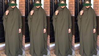 DIY!! How to cut and sew Jilbab (Easy tutorial)| Khimar tutorial