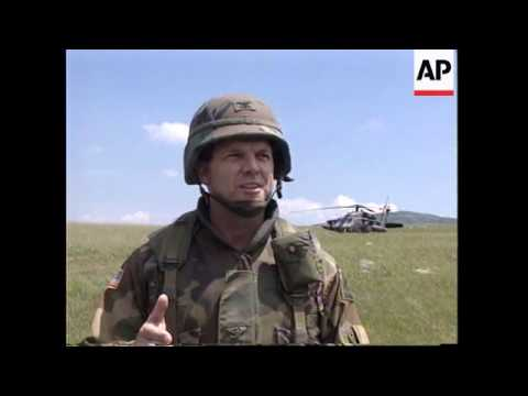 BOSNIA: US APACHE ATTACK HELICOPTERS DEMONSTRATE THEIR FIREPOWER