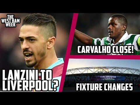 Lanzini to Liverpool? Carvalho Deal Close! Fixture Change Frustration | The West Ham Week