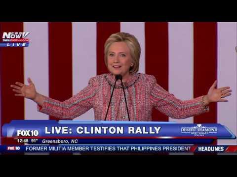Hillary Clinton Campaign Rally Greensboro, NC FNN