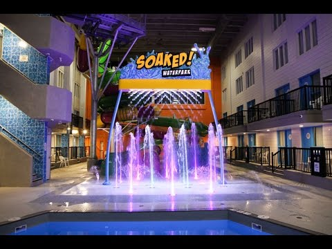 Travelodge Soaked Waterpark, Saskatchewan, Regina - Crystal Fountains