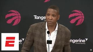 [FULL] Raptors GM apologizes to DeMar DeRozan, talks Kawhi Leonard trade in press conference | ESPN thumbnail