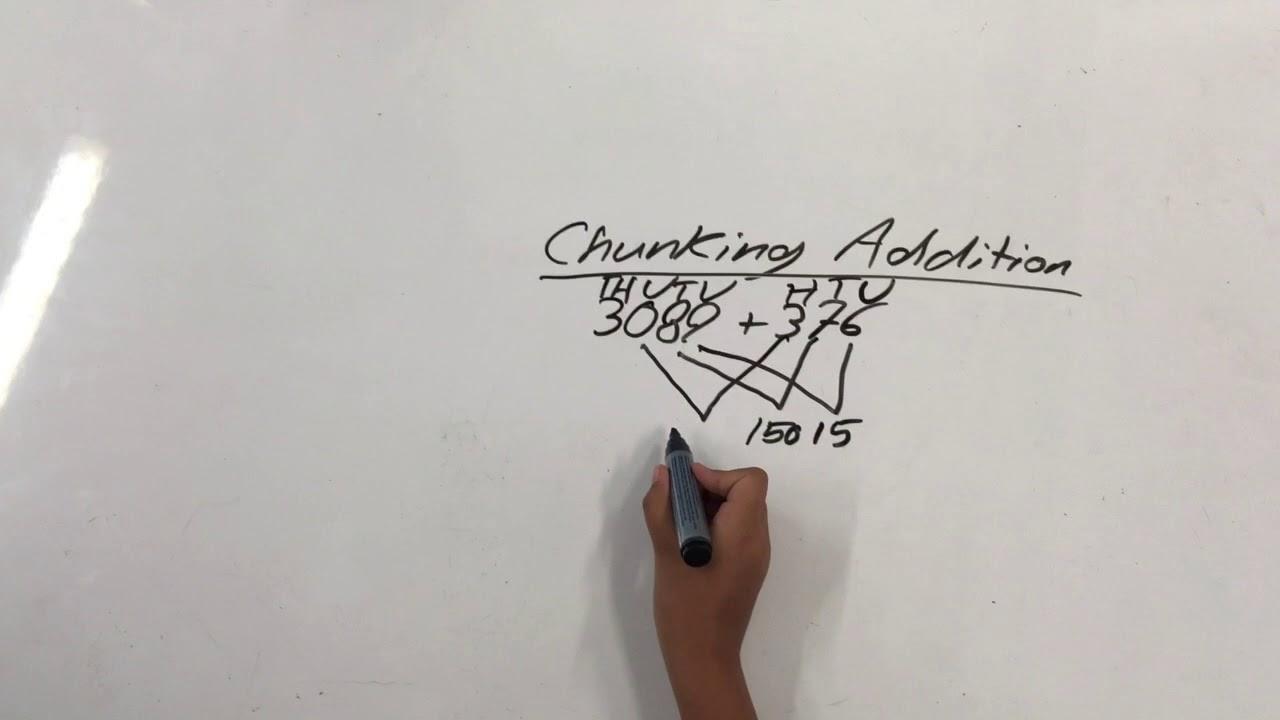Chunking Addition Natural Maths