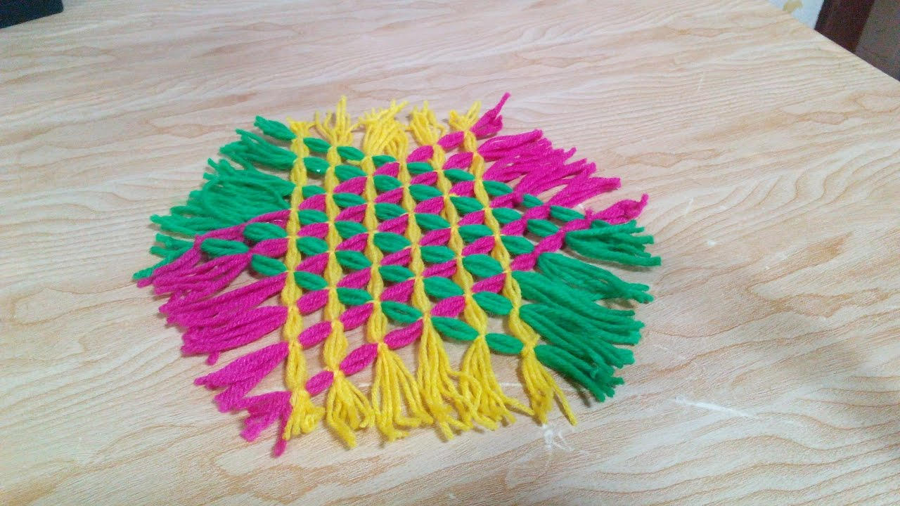 How to make a rug with yarn rugs ideas for Easy rugs