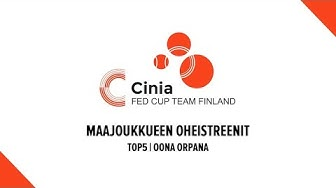 Maajoukkueen oheistreenit: Oona Orpana | TOP5