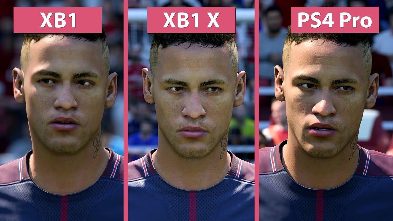 FIFA 18 – Xbox One X vs. PS4 Pro vs. Xbox One Graphics ... Xbox One X Vs Ps4 Pro Graphics Comparison