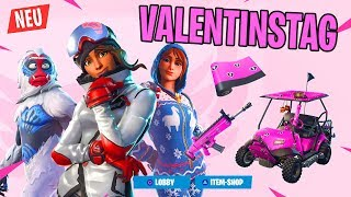 VALENTINE'S DAY in FORTNITE! 💘 New free Skins! Valentine's Day EVENT - Snowfall Skin Level 3