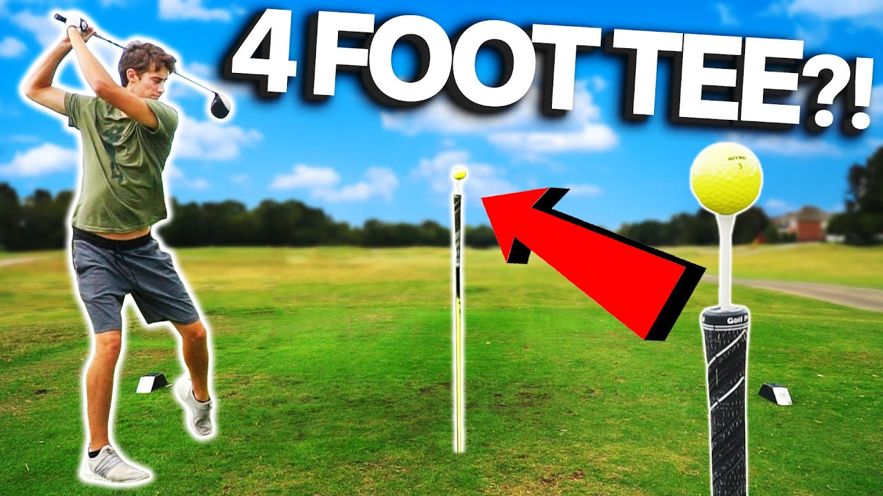 Playing With WORLD'S BIGGEST GOLF TEE | GM GOLF