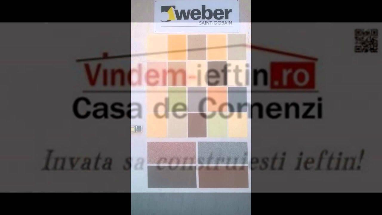 Tencuiala Decorativa Weber.Tencuiala Decorativa Weber Pret De Producator Youtube