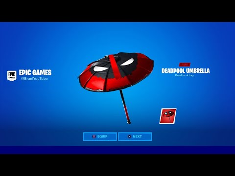 HOW TO GET NEW DEADPOOL UMBRELLA IN FORTNITE! NEW FORTNITE DEADPOOL UMBRELLA